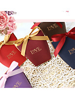 cheap -irregular Card Paper Favor Holder with Satin Bow Favor Boxes Gift Boxes - 1pc