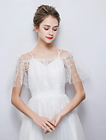cheap -Sleeveless Polyester / Cotton Blend Wedding Party / Evening Women's Wrap With Crystals / Rhinestones Capelets