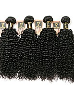 cheap -Brazilian Kinky Curly Human Hair Weaves 4pcs 0.2