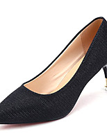 cheap -Women's Shoes Fabric Spring Comfort Heels Stiletto Heel Pointed Toe for Casual Gold Black Silver
