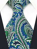 cheap -Men's Vintage Work Casual Silk Necktie - Paisley