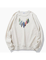 cheap -Men's Sweatshirt - Geometric, Print