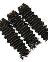 cheap -pre-colored deep wave brazilian human hair  3 bundles 100% unprocessed human hair extensions