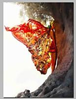 Недорогие -Ручная роспись Люди Вертикальная, Классика холст Hang-роспись маслом Украшение дома 1 панель
