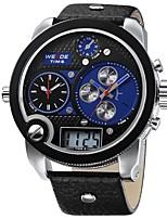Недорогие -Муж. Повседневные часы Японский Кварцевый Защита от влаги С двумя часовыми поясами С тремя часовыми поясами Повседневные часы Крупный