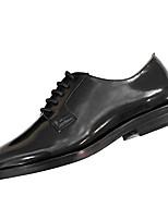 preiswerte -Damen Schuhe Gummi Frühling Herbst Komfort Outdoor Blockabsatz Runde Zehe für Draussen Schwarz