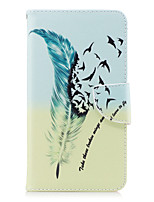 cheap -Case For Motorola MOTO G5 Plus MOTO G5 Card Holder Wallet with Stand Flip Magnetic Full Body Cases Feathers Hard PU Leather for Moto G5s