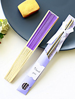 cheap -Lilac Silk Fan and Chopsticks Set Wedding Favor Beter Gifts® Anniversary Recipient Gifts