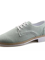 cheap -Men's Shoes Denim Spring Fall Comfort Oxfords for Casual Black Beige Green
