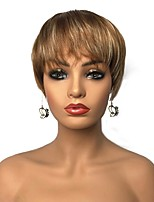 cheap -Synthetic Hair Wigs Straight Pixie Cut Capless Celebrity Wig Natural Wigs Short Brown