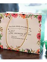 Недорогие -Square Shape Чистая бумага Фавор держатель с Вышивка бисером в виде цветов Мешочки - 1шт