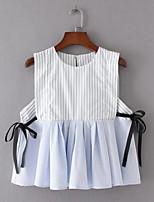 Недорогие -Жен. Современный Рубашка Простой Полоски