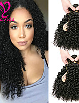cheap -Brazilian Kinky Curly Human Hair Weaves 6 pieces 0.3