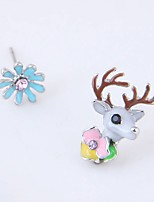 cheap -Women's Stud Earrings Mismatch Fashion Alloy Elk Flower Jewelry Daily Costume Jewelry