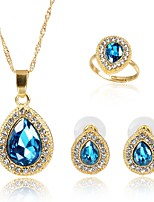 cheap -Women's Jewelry Set 1 Necklace - Ordinary Fashion Blue Jewelry Set Pendant Necklace For Birthday Daily