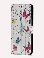 Недорогие -Кейс для Назначение SSamsung Galaxy S9 S9 Plus Бумажник для карт Кошелек со стендом Флип Магнитный Чехол Бабочка Твердый Кожа PU для S9