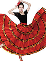 cheap -Ballroom Dance Bottoms Women's Training Polyester Gore Wave-like Sleeveless Dropped Skirts