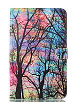 baratos -Capinha Para Samsung Galaxy Tab E 9.6 Carteira Com Suporte Flip Estampada Auto Dormir/Despertar Capa Proteção Completa Árvore Rígida PU