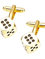 cheap -Cubic Golden Cufflinks Spots & Checks Casual Daily Formal Men's Costume Jewelry