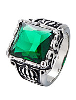 cheap -Men's Statement Ring Rhinestone Casual Cool Stainless Geometric Costume Jewelry Daily Street