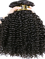 cheap -Brazilian Hair Kinky Curly Human Hair Weaves Natural Color Hair Weaves Women's Daily