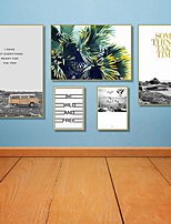 cheap -Rolled Canvas Prints Modern, Five Panels Canvas Any Shape Print Wall Decor Home Decoration
