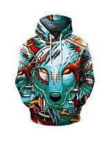 cheap -Men's Daily Geometric Hooded Hoodie Short, Long Sleeves Spring Fall Spandex