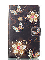 cheap -Case For Samsung Galaxy Tab A 7.0 (2016) Wallet with Stand Flip Pattern Auto Sleep/Wake Up Full Body Cases Butterfly Hard PU Leather for