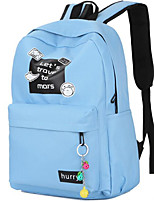 cheap -Women's Bags Canvas Backpack Zipper for Casual Outdoor Spring Fall Blue Black Blushing Pink Gray Fuchsia
