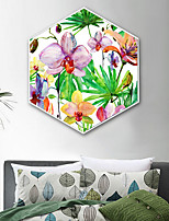 cheap -Botanical Floral/Botanical Illustration Wall Art,Plastic Material With Frame For Home Decoration Frame Art Living Room