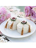 baratos -Circular Forma de Coração Cerâmica Suportes para Lembrancinhas com Estampa Caixas de Ofertas-1pç