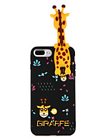 abordables -Coque Pour Apple iPhone 8 Plus iPhone 7 Plus Motif Coque Animal Flexible TPU pour iPhone 8 Plus iPhone 7 Plus