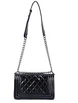 cheap -Women's Bags Sheepskin Shoulder Bag Zipper for Casual All Seasons Black