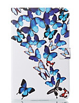 cheap -Case For Samsung Galaxy Tab E 9.6 Wallet with Stand Flip Pattern Auto Sleep/Wake Up Full Body Cases Butterfly Hard PU Leather for Tab E