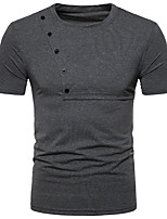 cheap -Men's Daily Street chic Spring Summer Polo Round Neck Short Sleeves Polyester