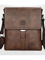 cheap -Men's Bags PU Shoulder Bag Zipper for Casual Outdoor Spring Summer Black Brown Dark Brown