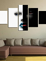 cheap -Rolled Canvas Prints Classic, Five Panels Vertical Panoramic Print Wall Decor Home Decoration