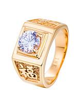 Недорогие -Муж. Классические кольца Стразы На каждый день Cool нержавеющий Геометрической формы Бижутерия Свадьба Для вечеринок