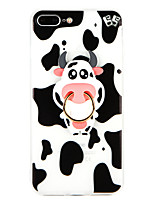 abordables -Coque Pour Apple iPhone 8 Plus iPhone 7 Plus Anneau de Maintien Coque Animal Flexible TPU pour iPhone 8 Plus iPhone 7 Plus