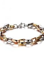 preiswerte -Herrn Ketten- & Glieder-Armbänder , Modisch Edelstahl Geometrische Form Schmuck Geschenk Alltag Modeschmuck Gold