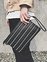 cheap -Men's Bags PU Clutch Zipper for Shopping Casual Spring Summer Black