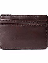 cheap -Men's Bags PU Coin Purse Tiered for Casual All Seasons Black Coffee Brown