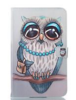Недорогие -Кейс для Назначение SSamsung Galaxy Tab E 9.6 Кошелек со стендом Флип С узором Авто Режим сна / Пробуждение Чехол Сова Твердый Кожа PU для