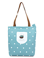 cheap -Women's Bags Canvas Tote Zipper for Shopping Casual All Seasons Blue Blushing Pink Navy Blue Purple