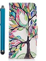 baratos -Capinha Para Apple iPhone X iPhone 8 Plus Porta-Cartão Carteira Com Suporte Flip Magnética Capa Proteção Completa Árvore Rígida PU Leather