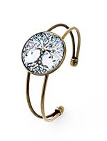 cheap -Men's Women's Cuff Bracelet , Metallic Colorful Glass Alloy Circle Jewelry Party Daily