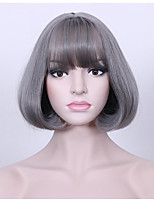 cheap -Synthetic Hair Wigs Curly Natural Hairline Layered Haircut Bob Haircut Capless Celebrity Wig Natural Wigs Cosplay Wig 13cm(Approx5inch)