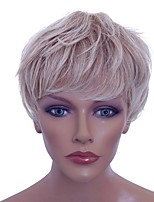 cheap -Synthetic Wig Curly Layered Haircut Natural Hairline Density Capless Blonde Celebrity Wig Natural Wigs Synthetic Hair