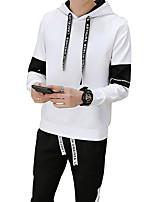 economico -Per uomo Taglie forti Taglia piccola Sport Activewear Set Tinta unita Con cappuccio