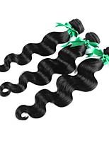 Недорогие -3 предмета Черный Естественные кудри Бразильские волосы Ткет человеческих волос Наращивание волос 0.15kg
